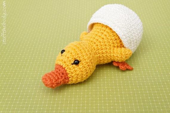 Duckling In Eggshell Amigurumi Pattern Crochet Easter
