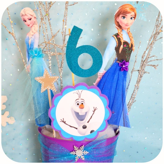 Disney Frozen Birthday Party Characters By KraftsbyKaleigh