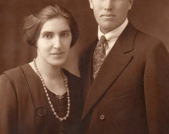 Antique Photo of Handsome Couple