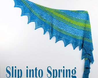 Slip into Spring Yarn Kit with Beads and Stitch Markers, your choice of colors