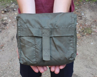 Mens Toiletry Bag, Vintage Military Pouch, Dopp Kit bag, Waterproof Pouch