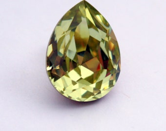 Swarovski 4320 Pear Shaped Crystal - Jonquil Crystal - Light Yellow Crystal - 20 x 15 mm Pear Shaped Crystal