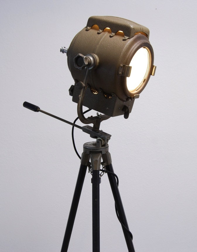 1940 S Vintage Theater Stage Light Spotlight Industrial