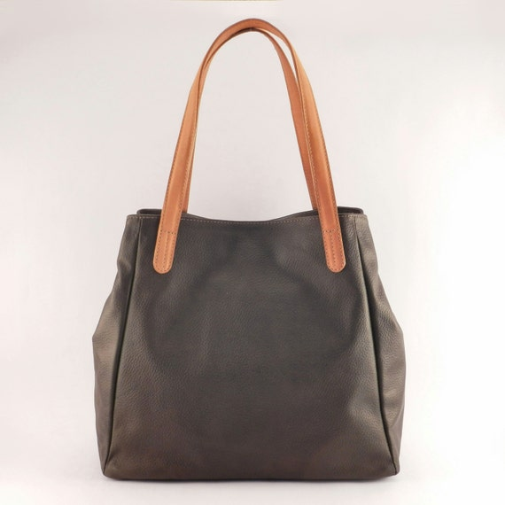 items similar to leather tote bag shopper bag handmade