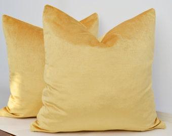Yellow Velvet  Pillow Cover,Gold Velvet Pillow Cover