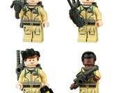Set of 4 Ghostbuster Toy Minifigure Set