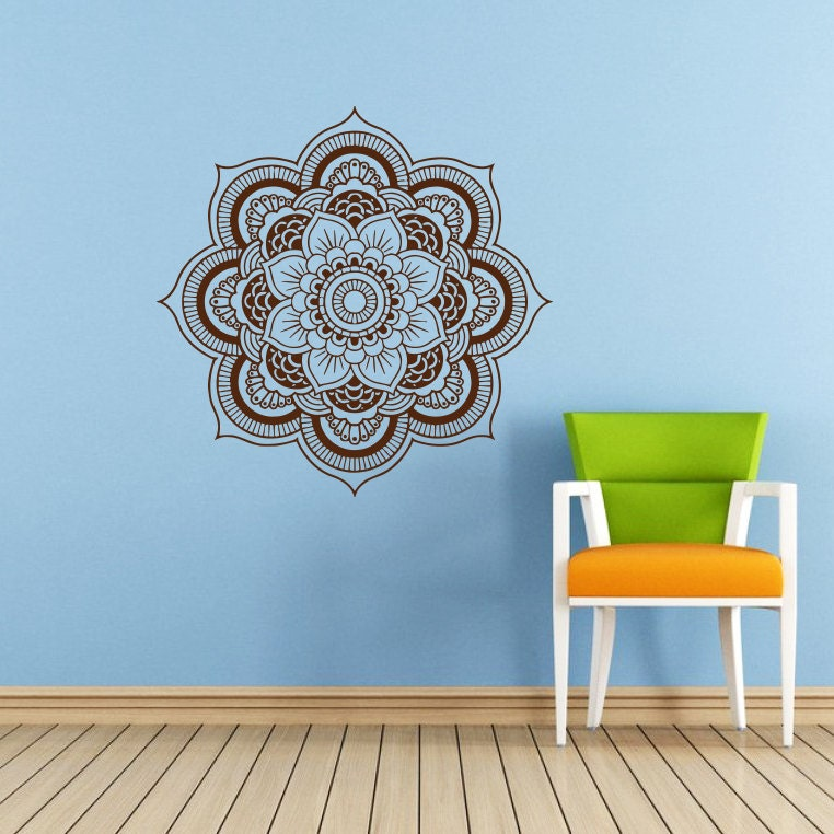Mandala Wall Decal | Etsy