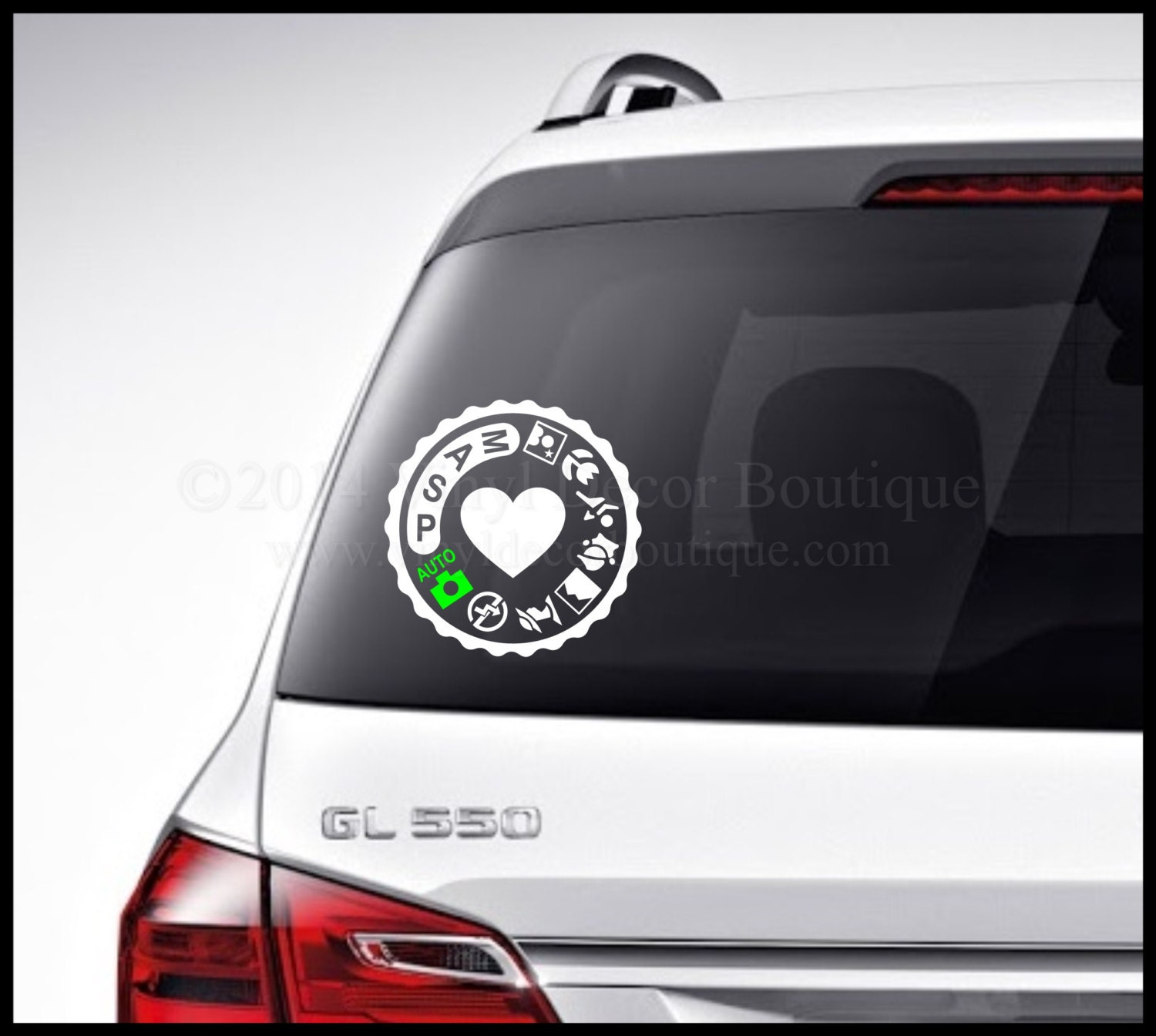 Photography Camera Car Decal Vinyl Lettering Bumper Sticker - Custom car bumper stickers
