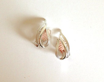 Vintage SARAH COVENTRY Clip Back Earrings in Silver