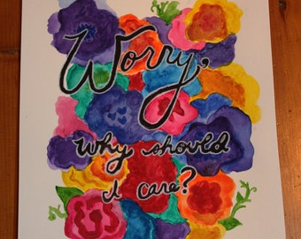 "John Mayer ""The Age of Worry"" lyric painting"