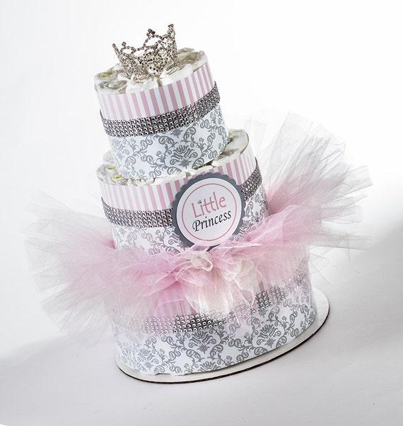 Diaper Cake - Diaper Cakes - Little Princess - Baby Gift  - Baby Shower Gift - Baby Tutu - Princess Baby Shower - Princess Diaper Cake