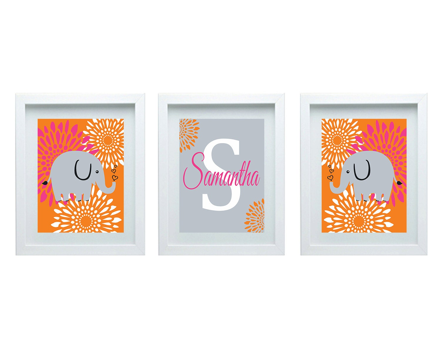 Baby girl nursery decor personalized name custom initial for Baby name decoration