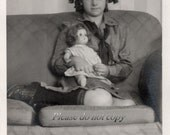 Vintage Photo Pretty Doll