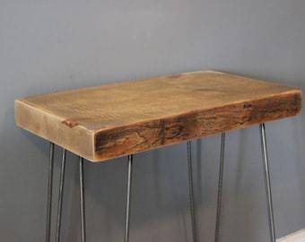 Hairpin Leg Desk, Reclaimed Barn Wood and Hairpin Legs
