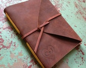 Medium Leather Journal- Personalized, hand-bound