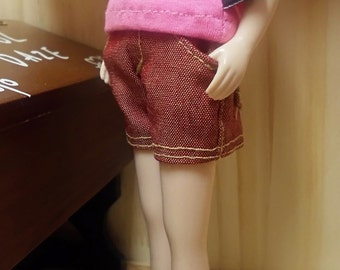 blythe clothes, Pants  shorts vintage red