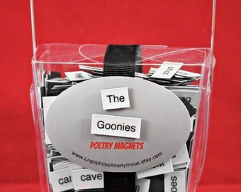 The Goonies Poetry Magnet Set - Refrigerator Poetry Word Magnets - Free Gift Wrap