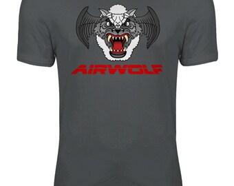 Airwolf - Wolf in Sheeps Clothing Retro Eighties T-shirts TV Show Womens T-shirt