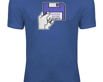Amiga A500 Kickstart Workbench Insert Disk Geek Womens T-shirt