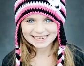 Crochet Skull Punk Rock Hat For Babies and Kids