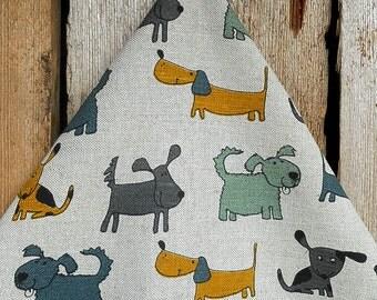 Dog Towel Linen Towel Dog Gift Dog Decor Linen Tea Towel Hand Towel Kitchen Towel Dish Towel Linen Tea Towel With Dog Christmas Gift