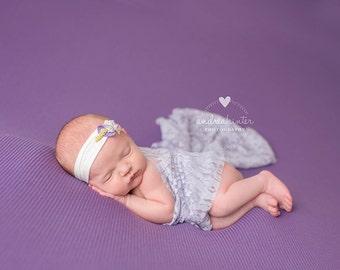 Newborn Photography Backdrop Fabric Macaron Knit Lilac Purple Newborn Backdrops - 2 Yards