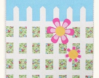 Daisy Gate Quilt Pattern #121 by Cluck Cluck Sew - Easy Crib Quilt Pattern - Beginner Level