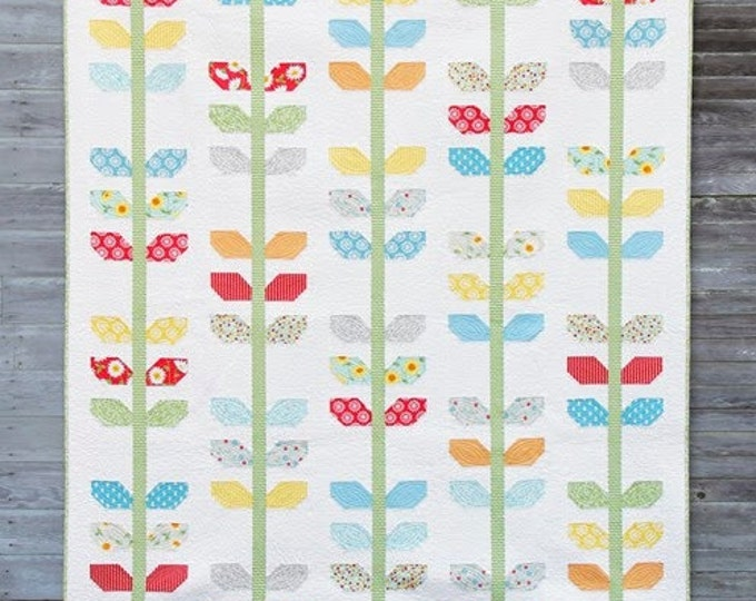 """Morning Glory Quilt Pattern #147 by Cluck Cluck Sew - PLUS Bonus Pillow Pattern! - Throw Size 68"""" x 78"""" - Layer Cake Friendly (W2062)"""