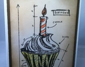 cupcake Blueprint, card for any occasion