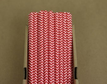25 red chevron paper straws (PS1019) - with printable DIY flags