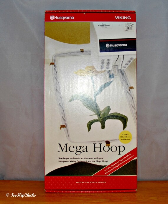 Brand new husqvarna viking mega hoop for embroidery x