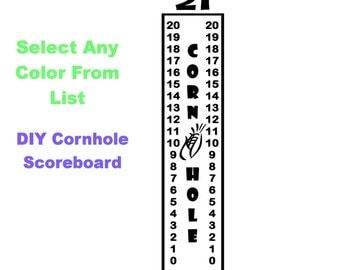 Scoreboard - Cornhole, Corn Hole, Baggo, Bean Toss Vinyl Decal vr4- Select Color