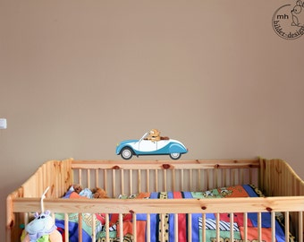 "Wall decal ""Boo & Car Ente"" personalized wall sticker with name"