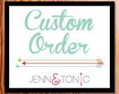 Custom Order for Bethany