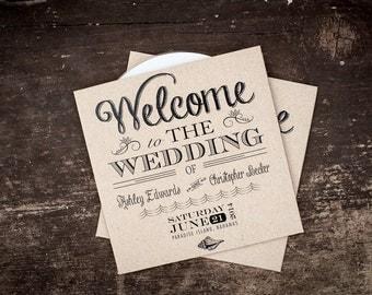 Kraft CD sleeve, Custom, Kraft Paper, DVD sleeve, wedding favour, wedding gift, wedding Cd case, Wedding CD