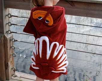 Virginia Tech Hokie Bird Hooded Towel