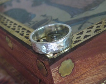 5mm Wedding Band, Man or Woman, Hammered finish, Made to Order