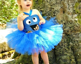 Me Love Cookie Monster Tutu Dress
