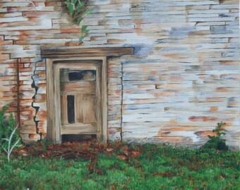 Mad Hatter Door, Nonsuch Gardens. Original Acrylic painting