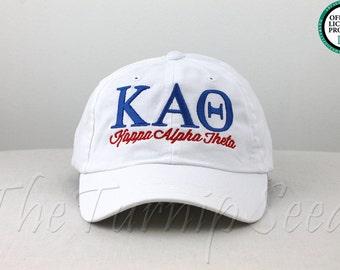 Kappa Alpha Theta Sorority Baseball Cap - Custom Color Hat and Embroidery.