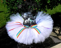 Candyland tutu   rainbow tutu     color run tutu     color me rad tutu   pride tutu
