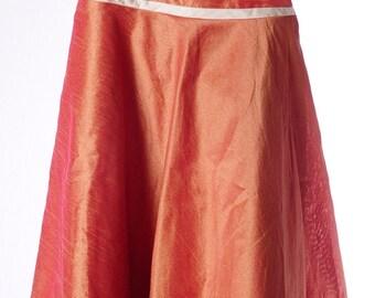 Handmade Silk gold/orange-toddler dress-5T