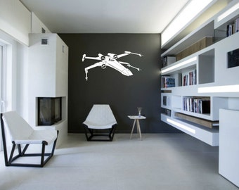 Scifi Art Inspired By Star Wars X Wing Fighter Vinyl Wall Decal   Removable  Wall Part 42