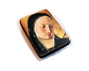 15x11cm wooden icon Madonna in Sorrow,  Sorrowful Mother, Mater Dolorosa, Our Lady, Seven Sorrows (Dolours), Virgin Mary, Maria Virgo
