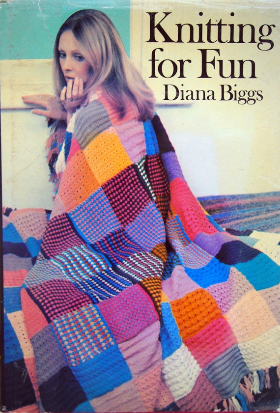 Knitting Stitches And Patterns Diana Biggs : Knitting For Fun By Diana Biggs Vintage Hardback Knitting Book