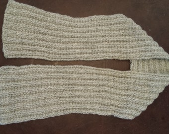 Knitted Gray Alpaca Scarf