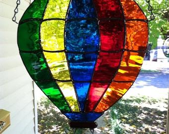 Stained Glass Window Hot Air Balloon Suncatcher