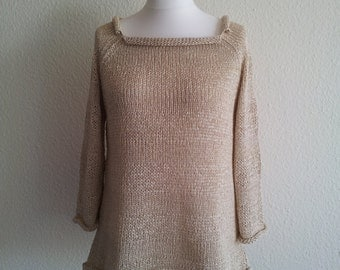 jeacara - nature - knit sweater - cotton - linen Lina