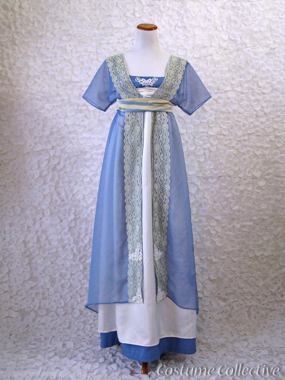 Downtown Abbey Dress - Women's 1910 Blue Gown