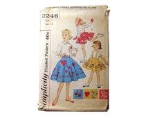 Simplicity Pattern Girls Skating Skirt Dress Skirt and Panties Pattern 3246 Size 14 - Sewing Pattern - Girls Fashion - Ice Skating Costume
